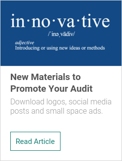 New Materials to Promote Your Audit