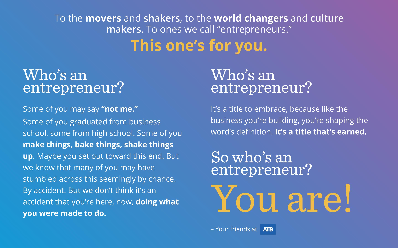 Desktop sized inspirational background for entrepreneurs
