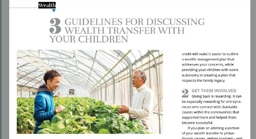 Guidelines for discussing wealth with your children