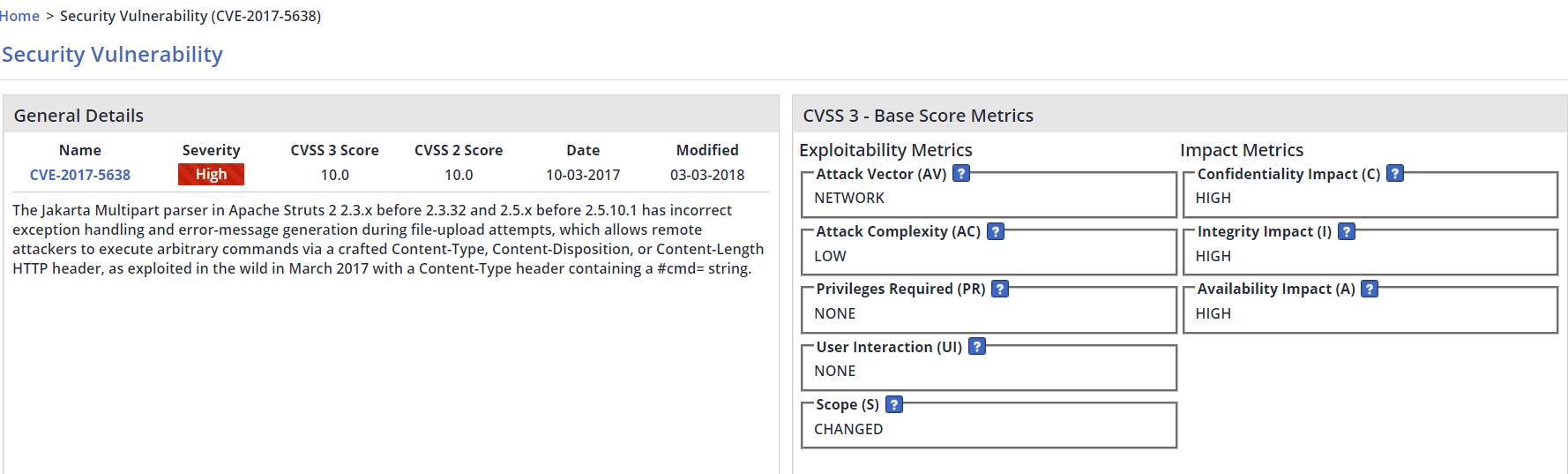 CVSS v3 metrics