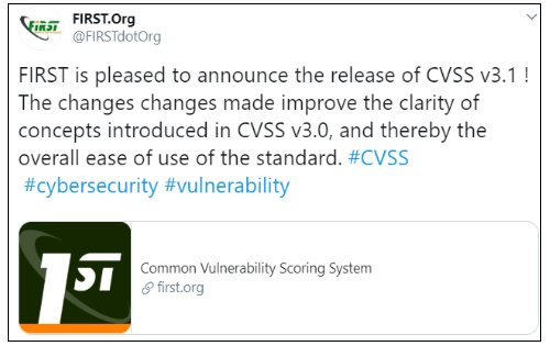 CVSS v3.1 announcement