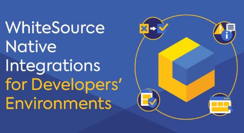 WhiteSource Native Integrations for Developers' Environments