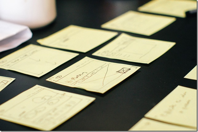 post-its on desk