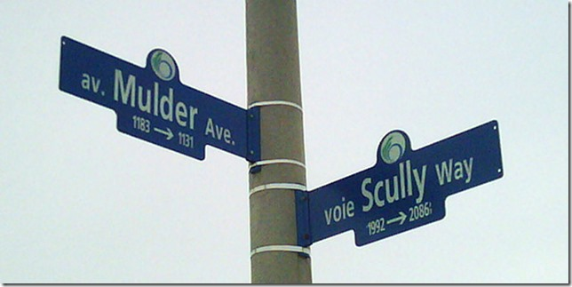 At the Intersection of Mulder & Scully from the X-Files