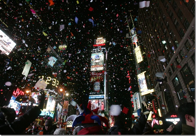 Time Square on New Year's Eve