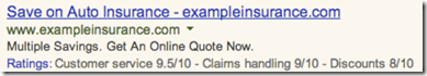 Adwords Ratings - Auto Insurance