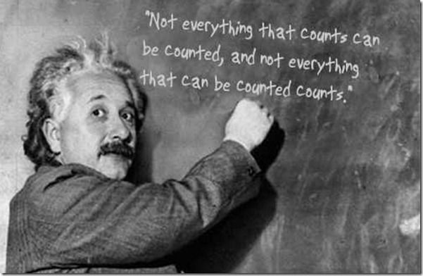 Einstein Not Everything that Counts Can Be Counted