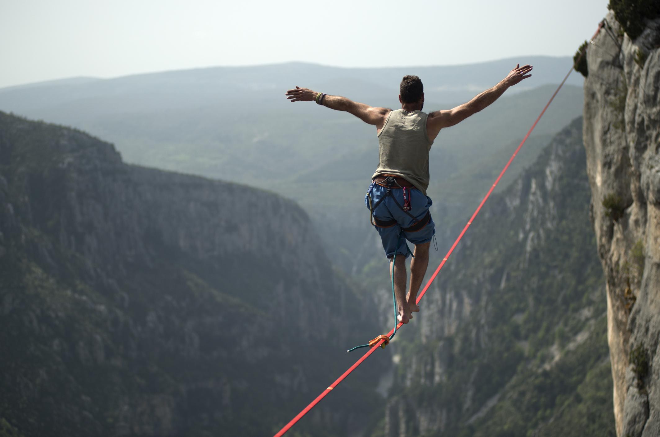 tightrope walking, balance