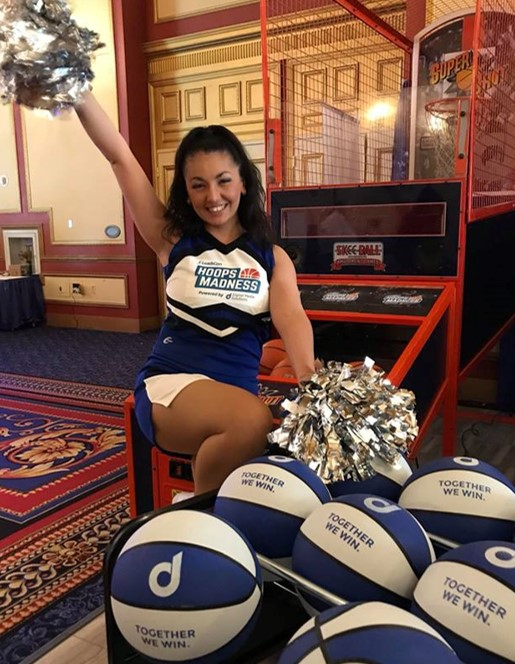 Cheerleader at LeadsCon Hoops Madness Powered by Digital Media Solutions