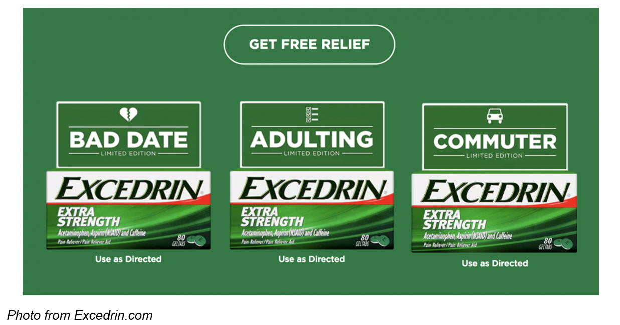 Adulting, Bad Date, Commuter Excedrin Marketing Campaign Extra Strength Provides Extra Support