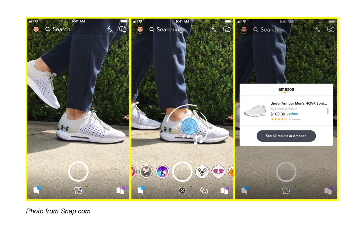 Snapchat's social media platform