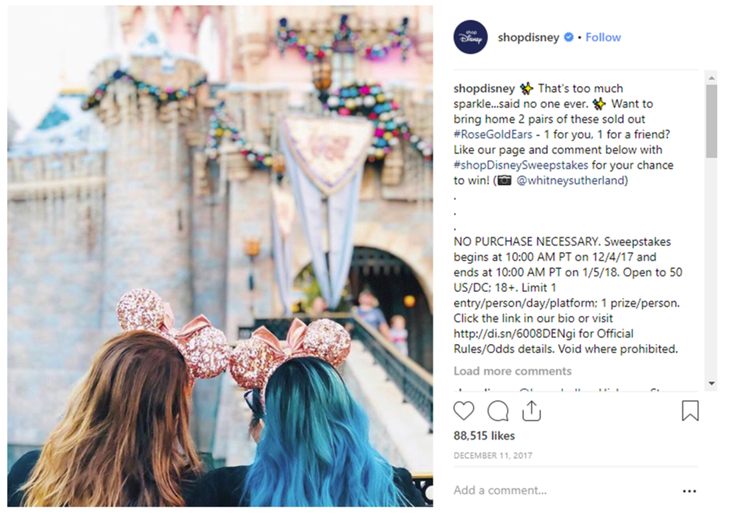 Disney even teased the crowd of earless fans with an Instagram giveaway
