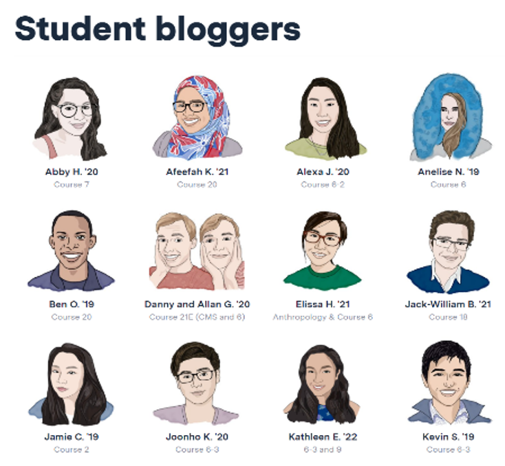 student bloggers MIT college blog