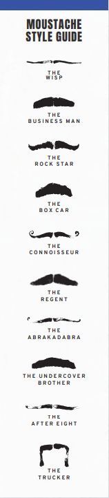 moustache style guide movember marketing
