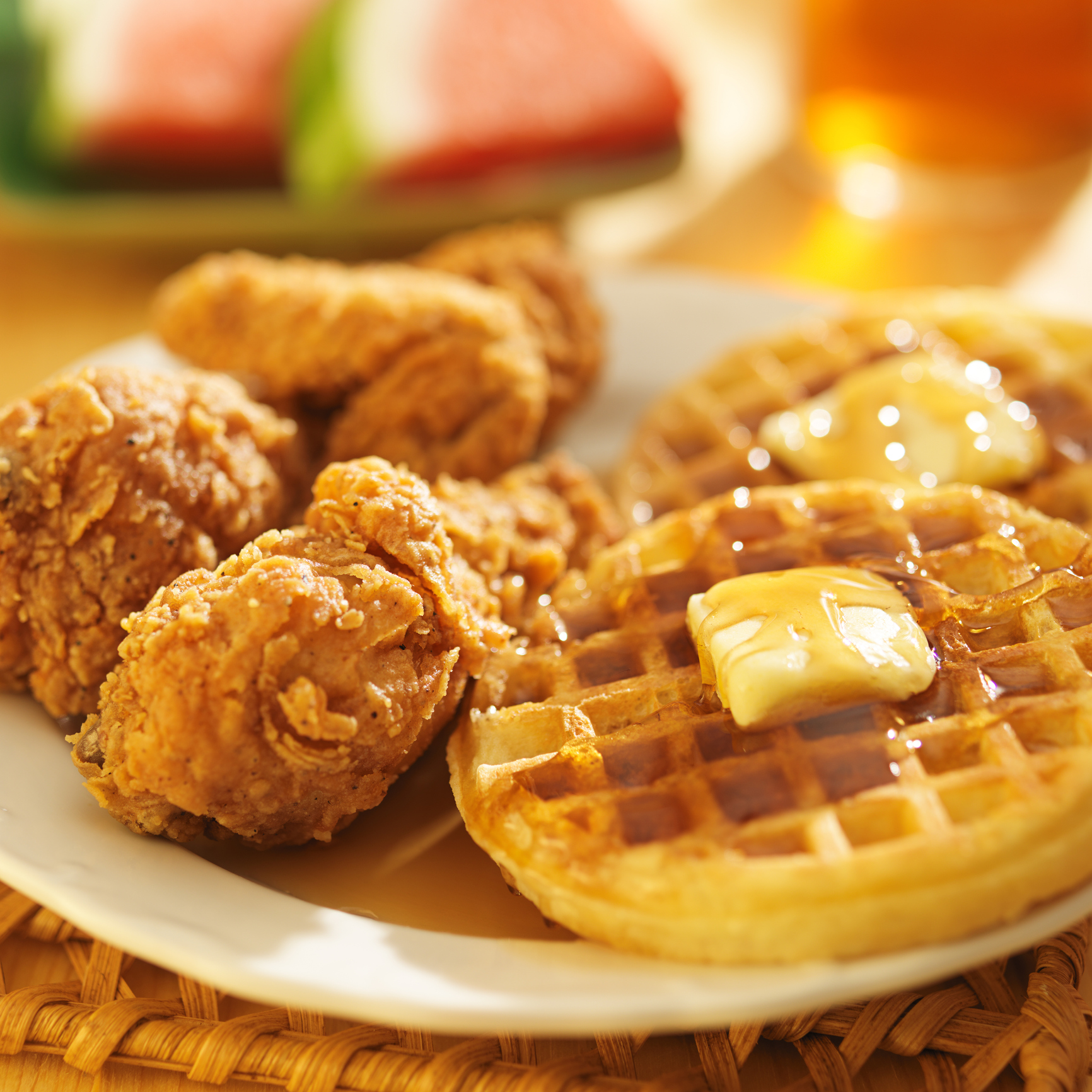 KFC chicken and waffles marketing
