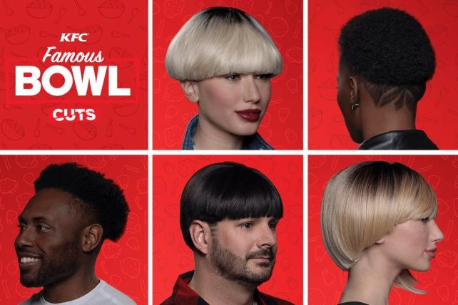 KFC bowl cut marketing