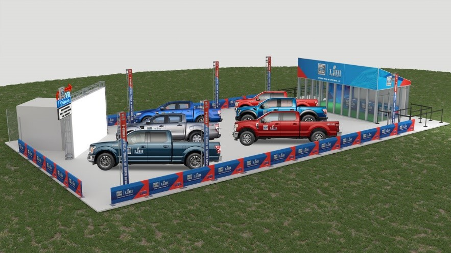 ford virtual drive super bowl LIII