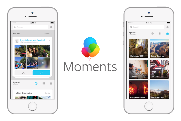 Facebook Moments social media marketing