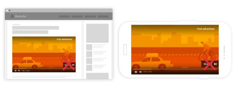 google non-skippable ads