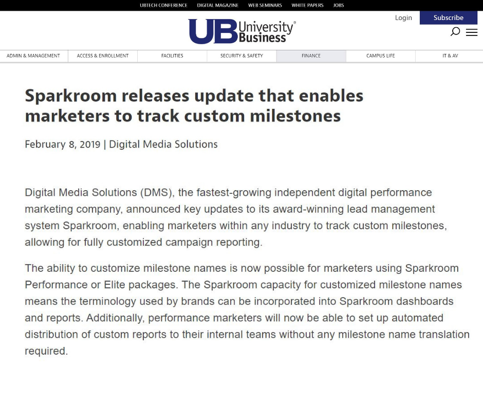 https://universitybusiness.com/sparkroom-releases-update-that-enables-marketers-to-track-custom-milestones/
