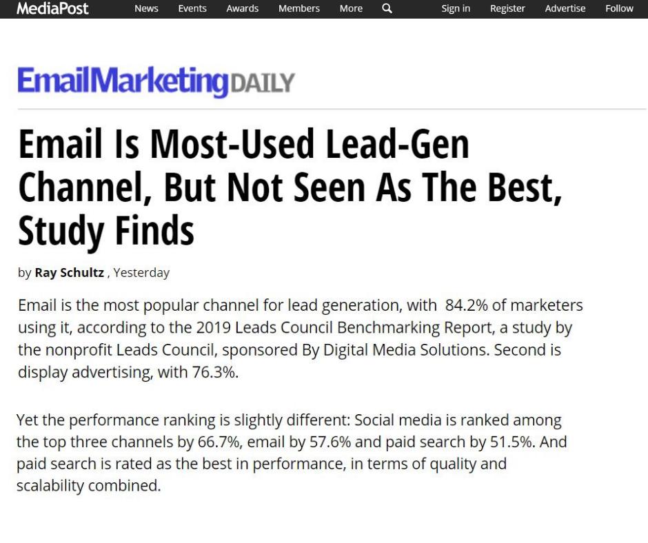 media post email marketing