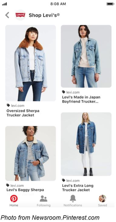 Levi's Pinterest Social Shopping