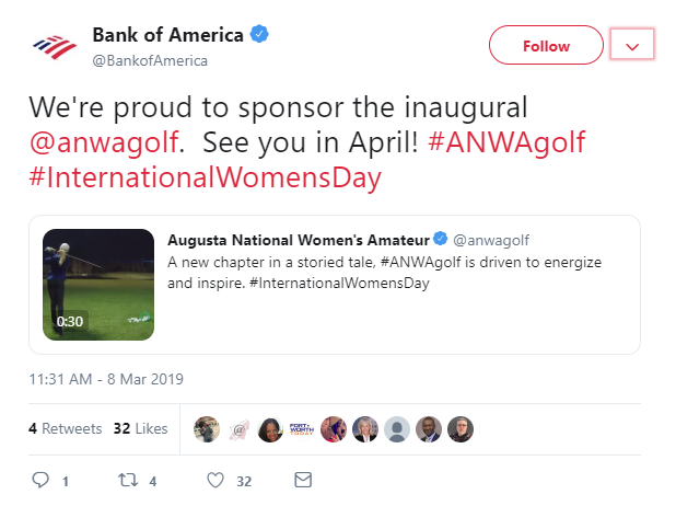 Bank Of America: Augusta National Women's Amateur