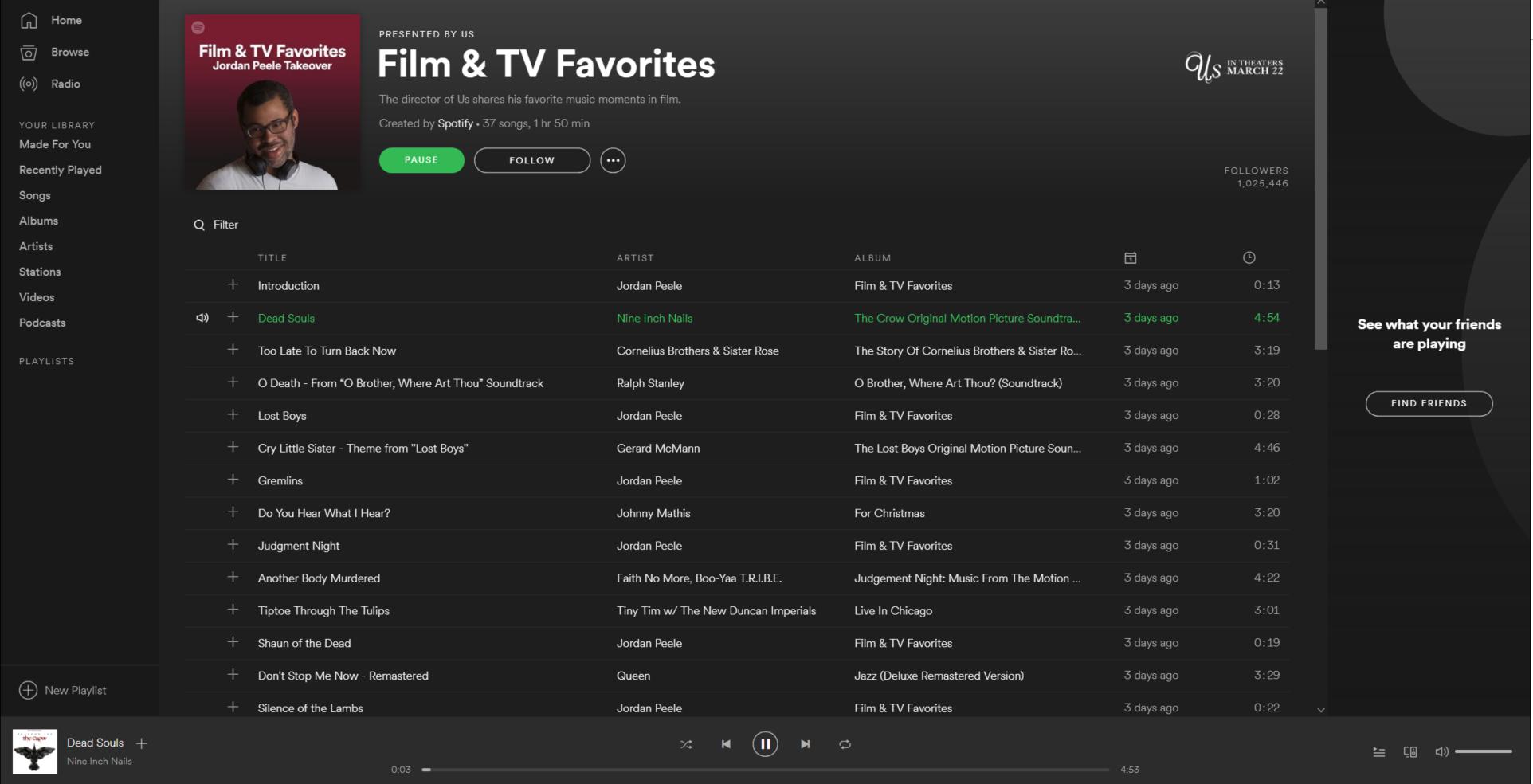 TV & Movies Spotify hub
