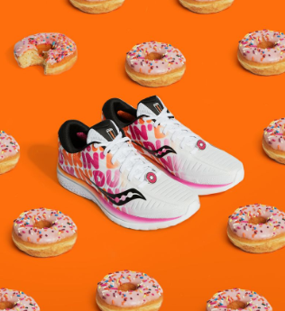 The Boston Marathon Dunkin Donuts running shoe