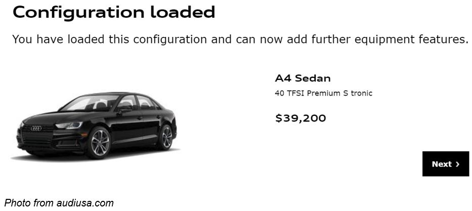 Audi configuration
