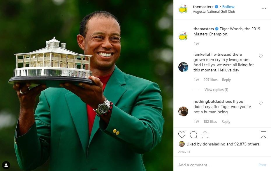 tiger woods instagram