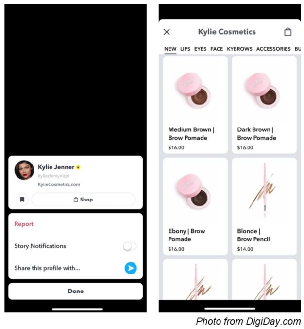 Snapchat's New In-App Store