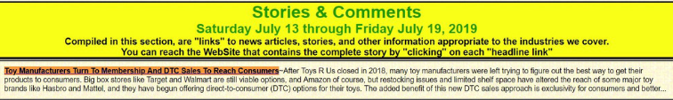 toy manufacturers