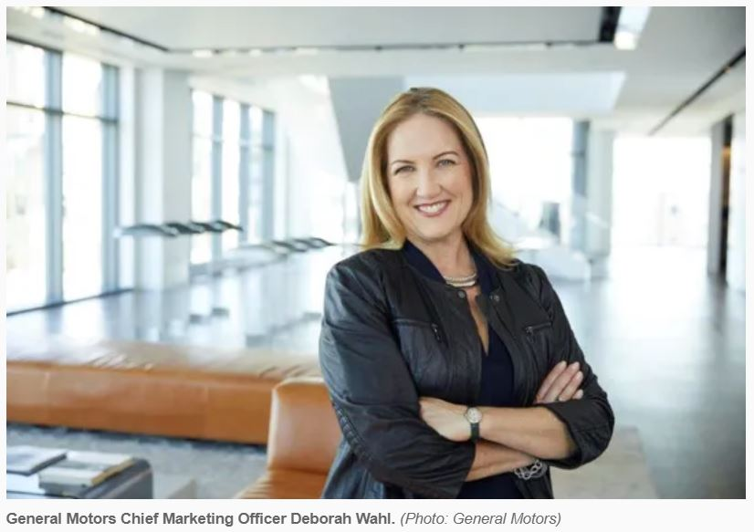Deborah Wahl as new Chief Marketing Officer at General Motors GM