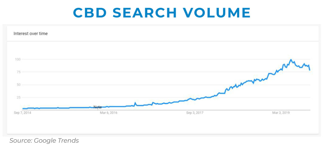 CBD search volume