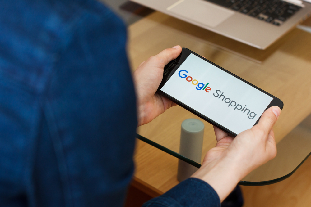 Google shopping mobile device