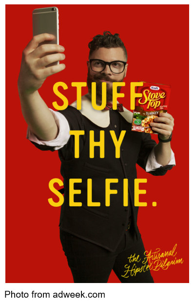 Stuff Thy Selfie with Stove Top stuffing photo from adweek