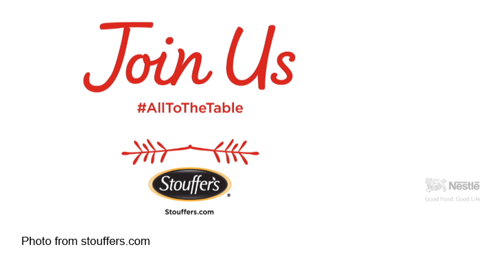 Join Us #AllToTheTable Stouffer's ad from Stouffers.com