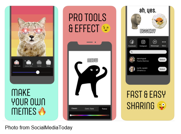 Photo from socialmediatoday make your own memes pro tools & effect fast & easy sharing