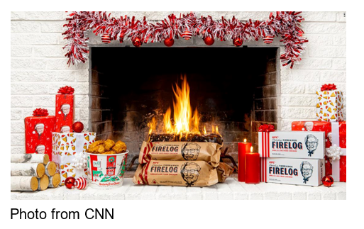 Photo from CNN KFC Colonel Sanders Funko Pop, limited-edition Colonel-shaped pool floaties and the viral chicken-scented fire log