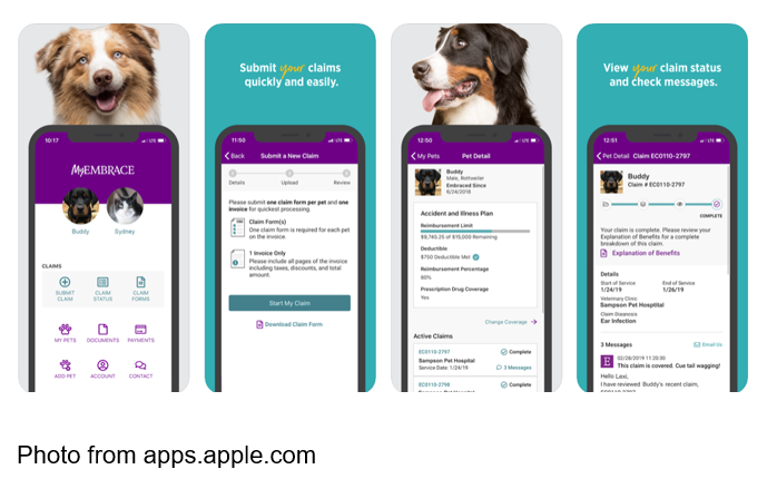 Photo from apps.apple.com Embrace Pet Insurance