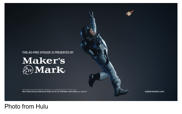 Photo from Hulu This ad-free episode is presented by Maker's Mark