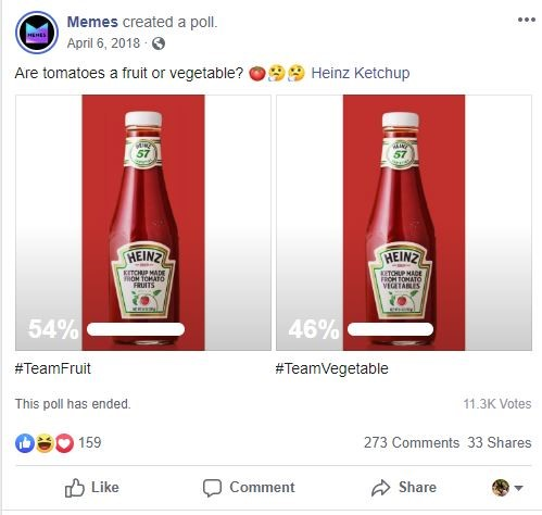 Memes are tomatoes a fruit or vegetable? Heinz Ketchup