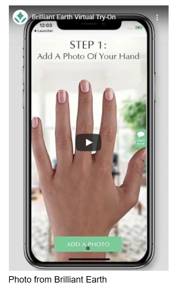 brilliant earth virtual try-on engagement ring