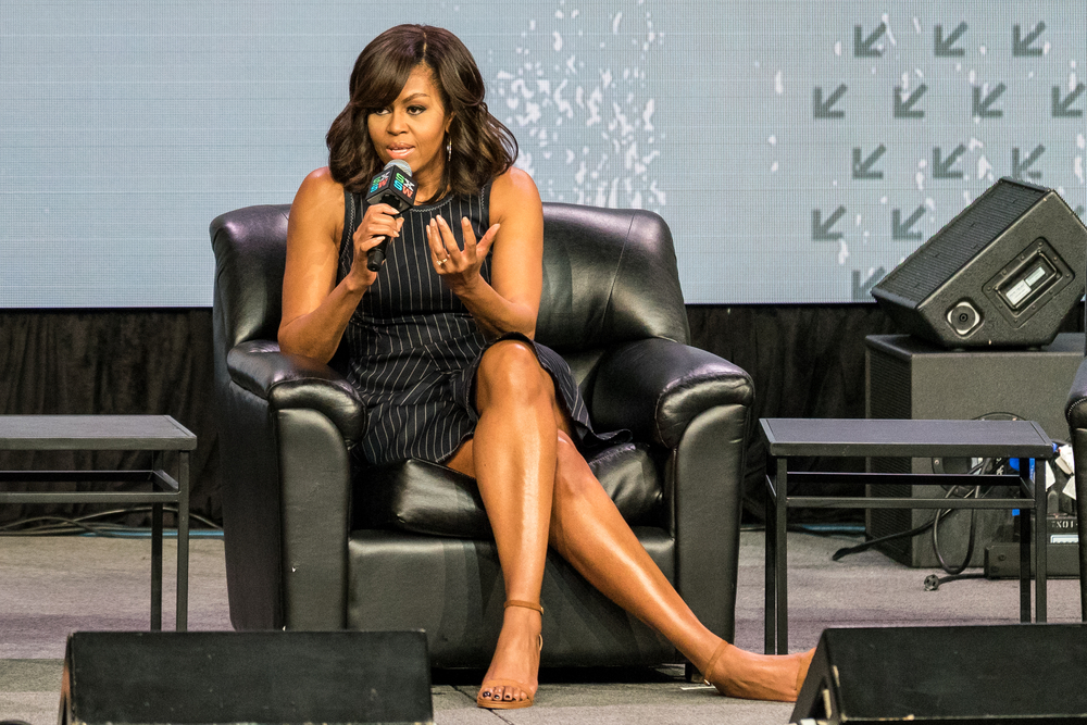 Shutterstock_490909702  AUSTIN - MARCH 16, 2016: First Lady Michelle Obama speaks at the SXSW event Let Girls Learn in Austin, Texas.