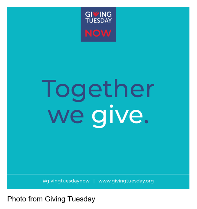 Giving Tuesday Now, Together We Give. Photo from #givingtuesdaynow