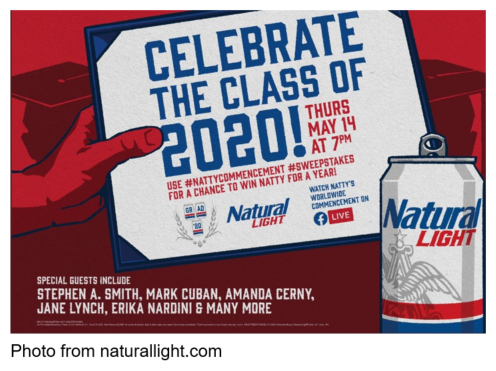 Natural Light Beer natty's worldwide commencement