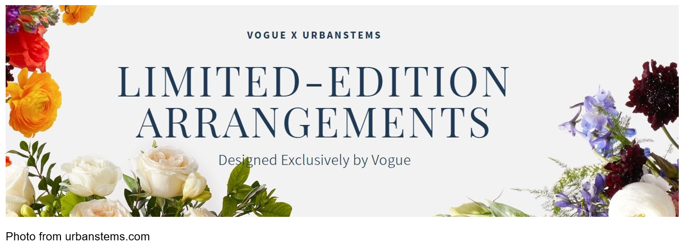 vogue x urbanstems limited-edition arrangements