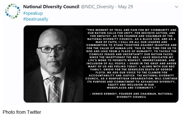National Diversity Council tweet