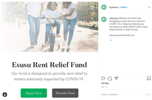esusu rent relief fund